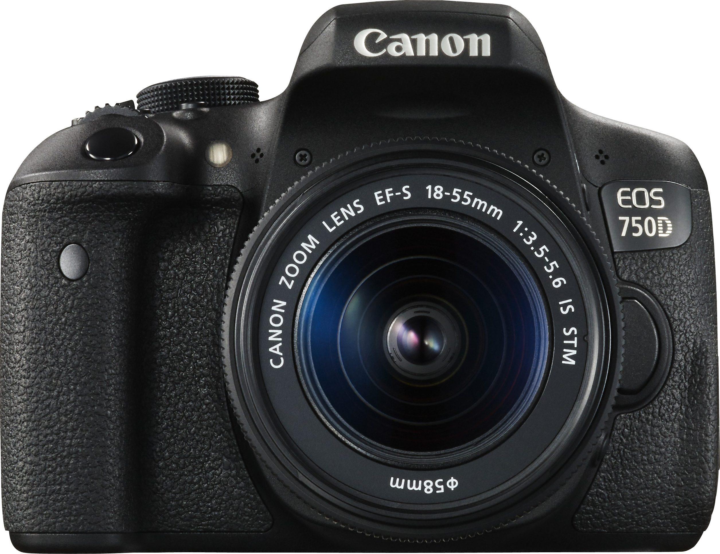 Canon EOS 750D Kit Spiegelreflex Kamera, Canon EF-S 18-55mm f/3.5-5.6 IS STM Zoom, 24,2 Megapixel