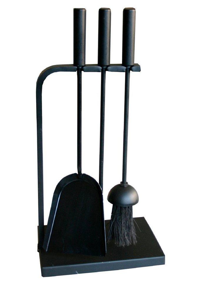 Kaminbesteck »Eisen beschichtet«, Set 3 tlg. in schwarz