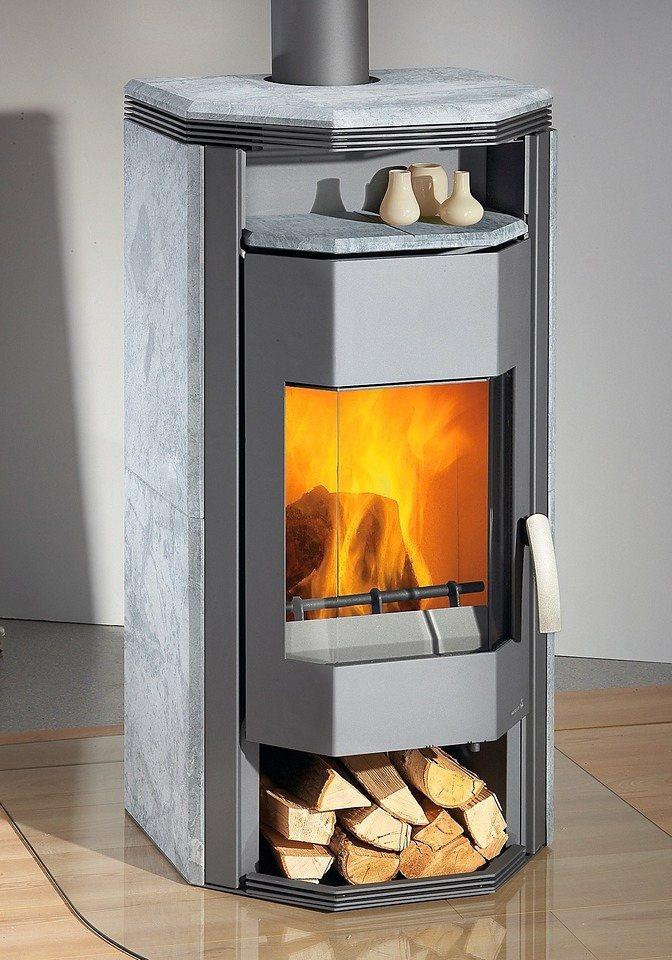 Kaminofen »Prisma«, Naturstein, 8 kW, prismatische Form in grau