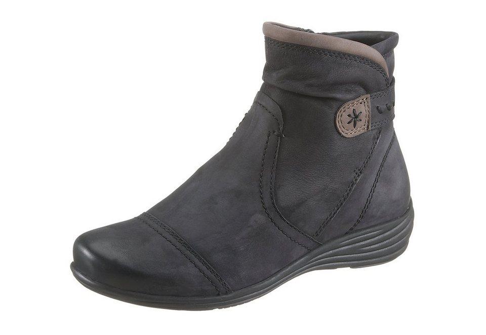 Jana Boots in schwarz kombiniert
