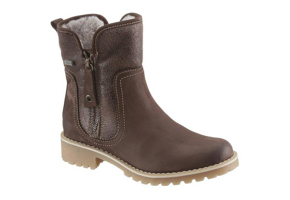 Tamaris Boots mit Tex-Ausstattung in braun used