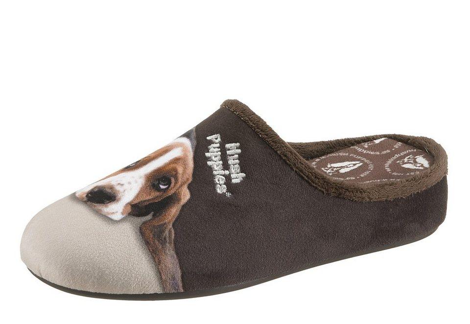 Hush Puppies Pantoffel mit süßem Hunde-Print in braun komb.