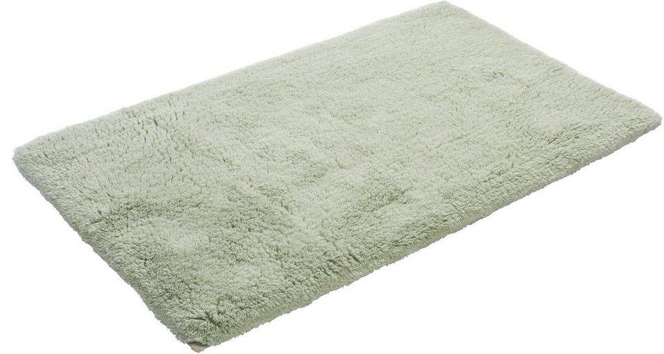 Badematte, Grund, »CALO«, Höhe 24 mm, Bio-Baumwolle, rutschhemmender Rücken in grüner tee