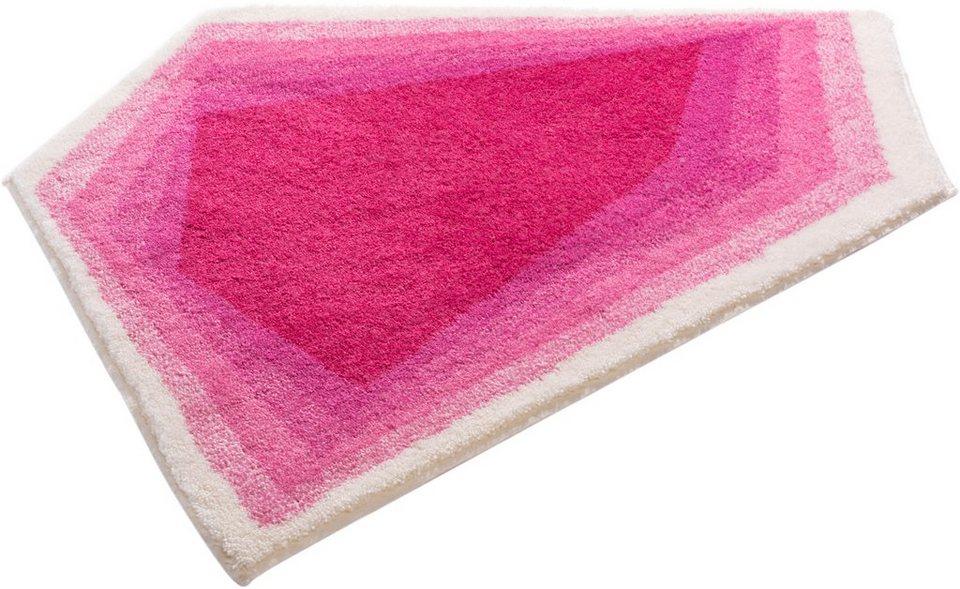 Badematte, Grund, »KARIM RASHID CONCEPT 11«, Höhe 20 mm, rutschhemmender Rücken in pink