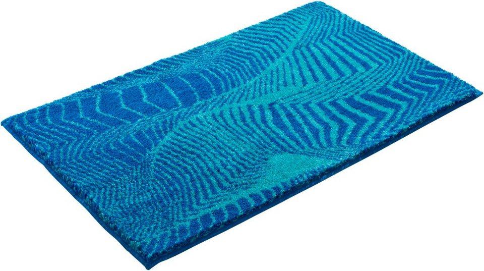 Badematte, Grund, »KARIM RASHID CONCEPT 13«, Höhe 20 mm, rutschhemmender Rücken in blau türkis
