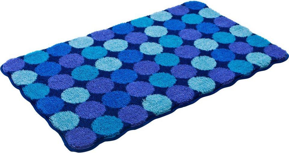 Badematte, Grund, »AGARTHI«, Höhe 20 mm, rutschhemmender Rücken in blau-türkis