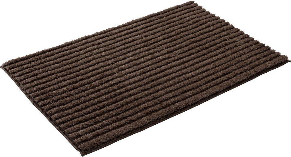 Badematte, Grund, »RIFFLE«, Höhe 24 /15 mm, rutschhemmender Rücken in kakao