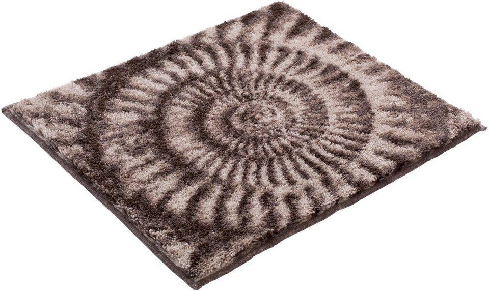 Badematte, Grund, »AMMONA«, Höhe 20 mm, rutschhemmender Rücken in beige