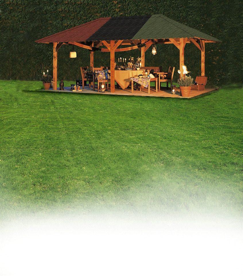 KARIBU Holzpavillon »Bergen 2«