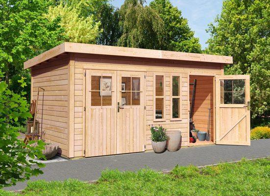 KARIBU Gartenhaus »Tegel«, BxT: 456x303 cm, mit Nebenraum
