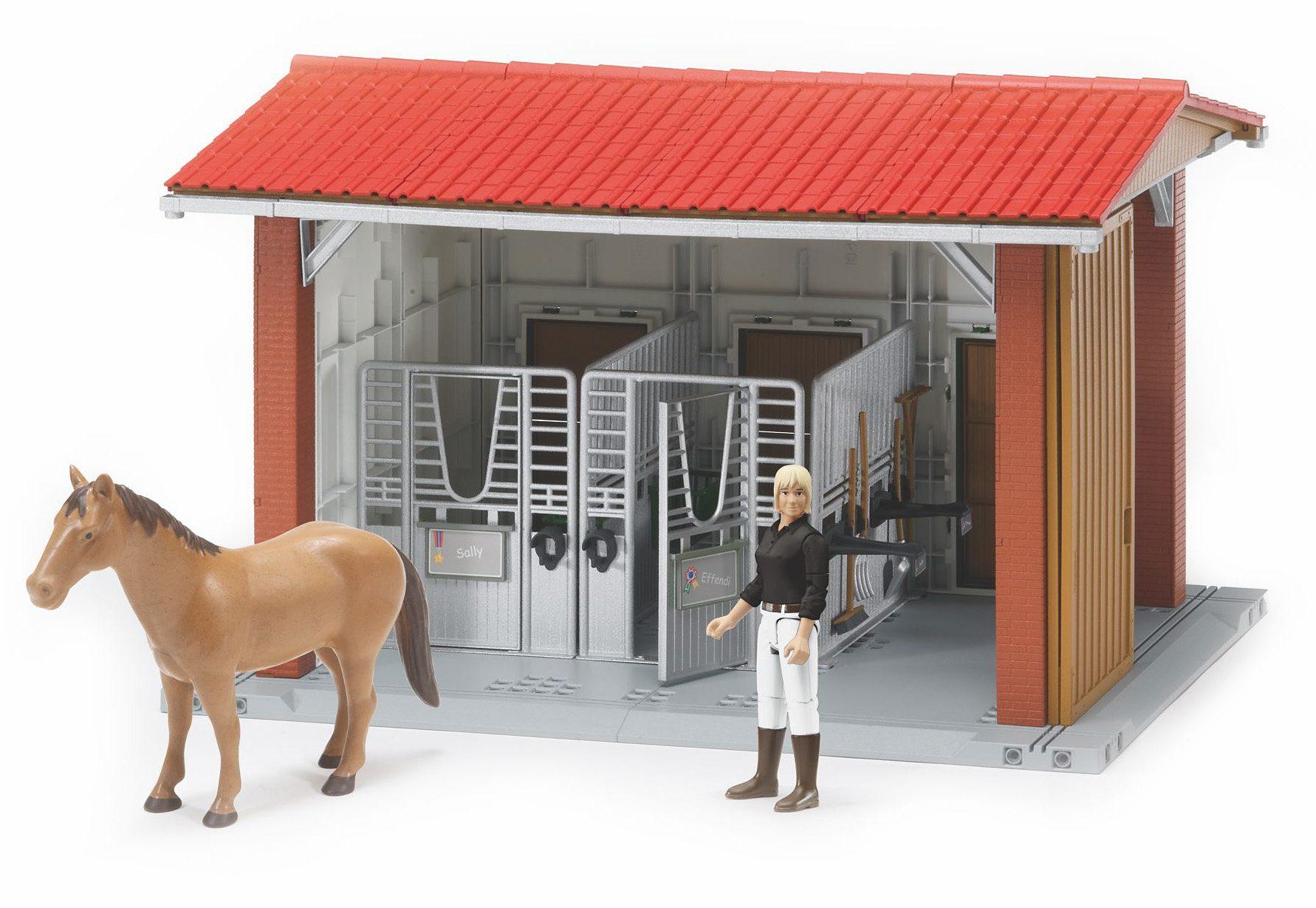 bruder® Reitstall mit Figur, Pferd und Stallzubehör