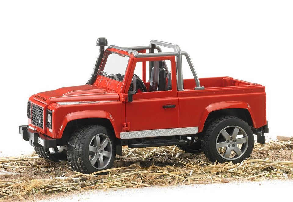 bruder® Geländewagen, »Land Rover Defender Pick Up« in rot