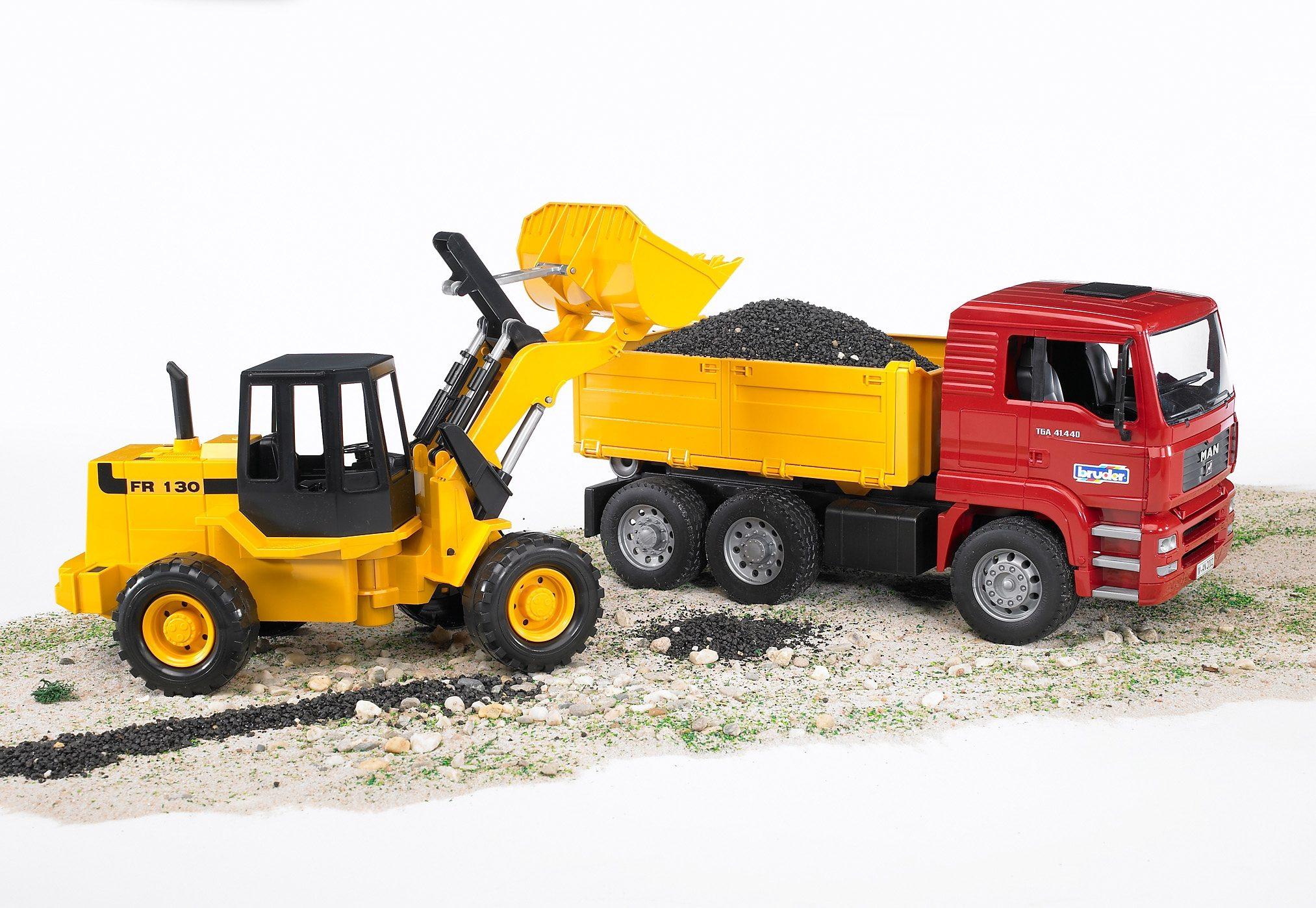 bruder® Fahrzeug-Set 02752, »MAN TGA Kipplastwagen + Gelenkradlader FR 130«