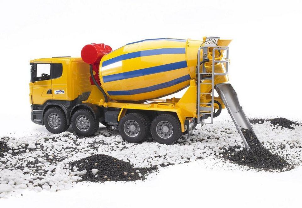 bruder® Betonmisch-LKW, »Scania R-Serie«. in gelb