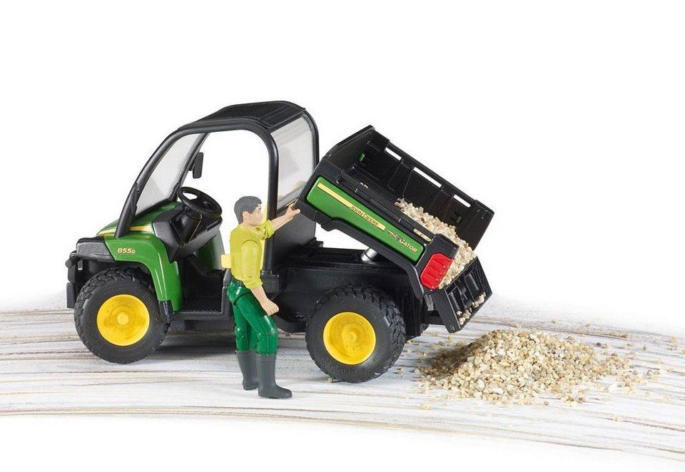 bruder® Mini-Fahrzeug, »John Deere Gator XUV 855D mit Figur« in grün