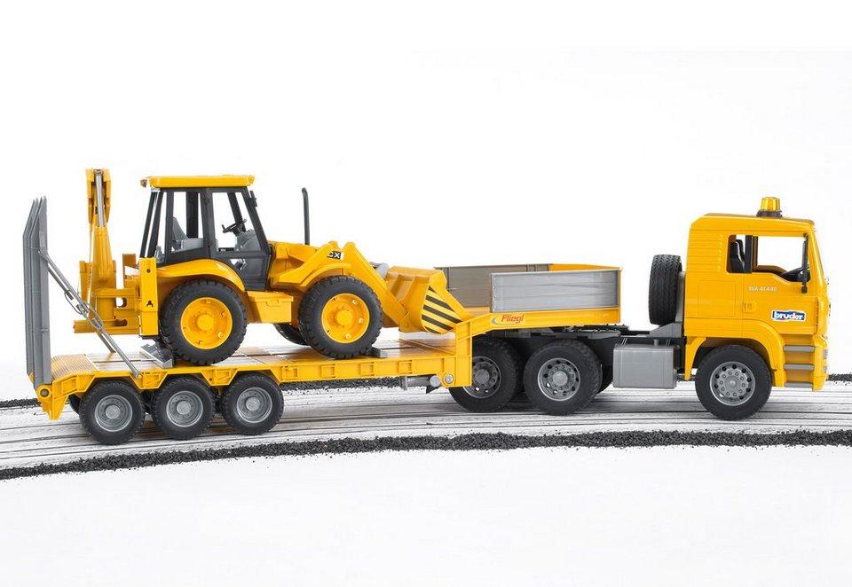 bruder®Tieflader, »MAN TGA + Baggerlader JCB 4CX« in gelb