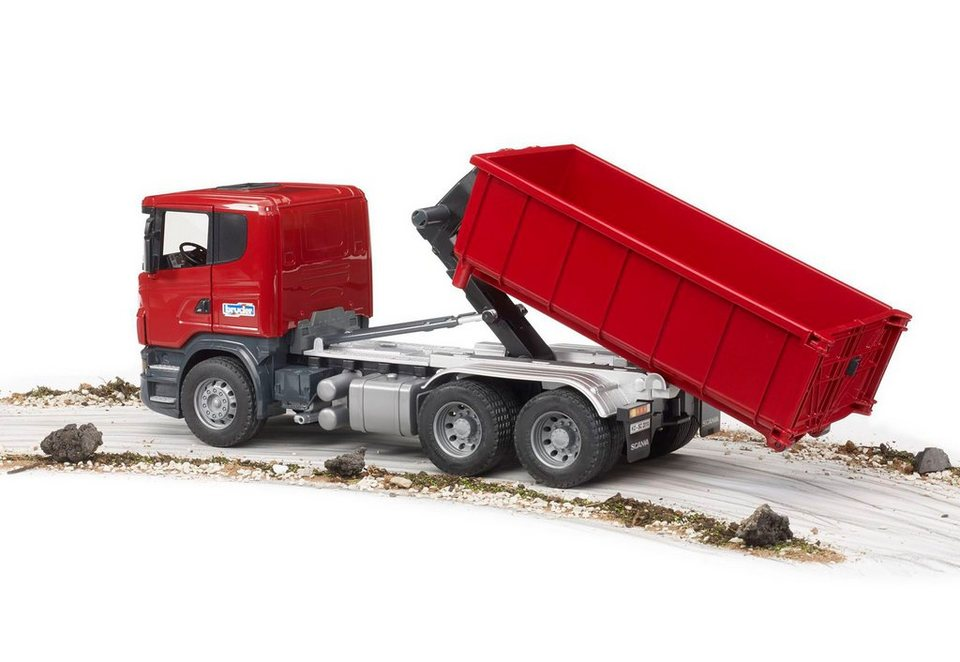 bruder® LKW mit Abrollcontainer, »Scania R-Serie« in rot