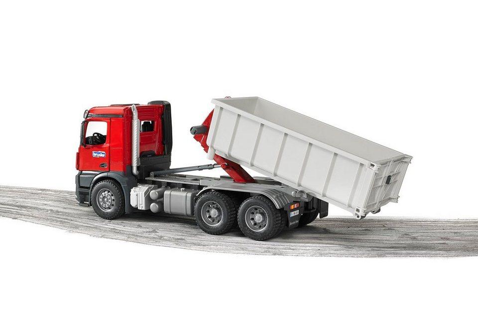 bruder® LKW mit Abrollcontainer, »Mercedes Benz Arocs«