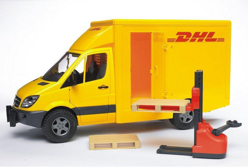 bruder® spielzeugauto »mercedes benz sprinter dhl« made