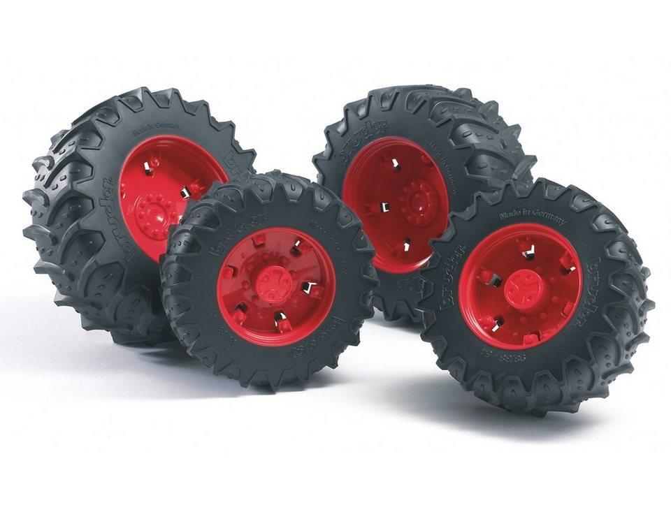 bruder® Zwillingsbereifung, rote Felgen