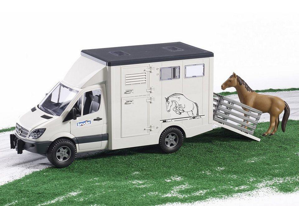 bruder® Tiertransporter, »Mercedes Benz Sprinter« in weiß