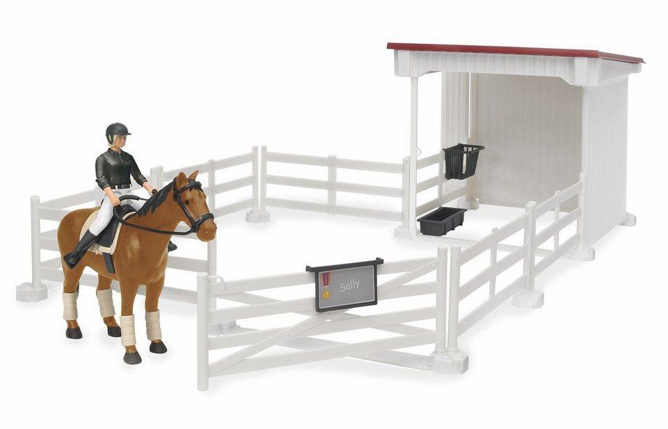 bruder® Kleiner Reiterhof mit Reiterin, Pferd, Sattel und Zaumzeug