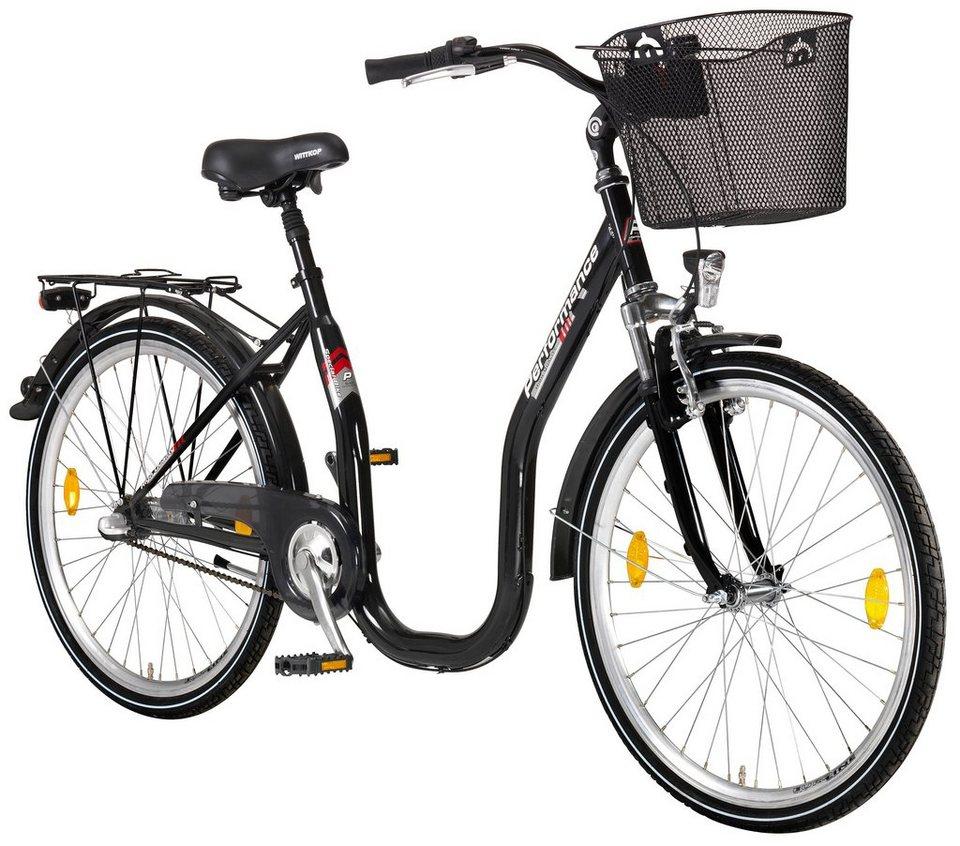 Citybike Tiefeinsteiger »Sylt «, 26/28 Zoll, 3 Gang, Rücktrittbremse in schwarz
