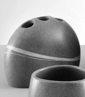 Zahnbürstenhalter »Stein-Optik« in grau