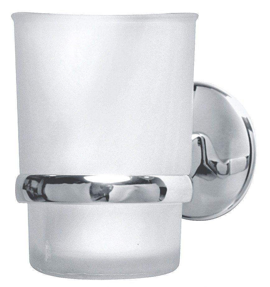 Glas mit Halter »Vision« in silberfarben