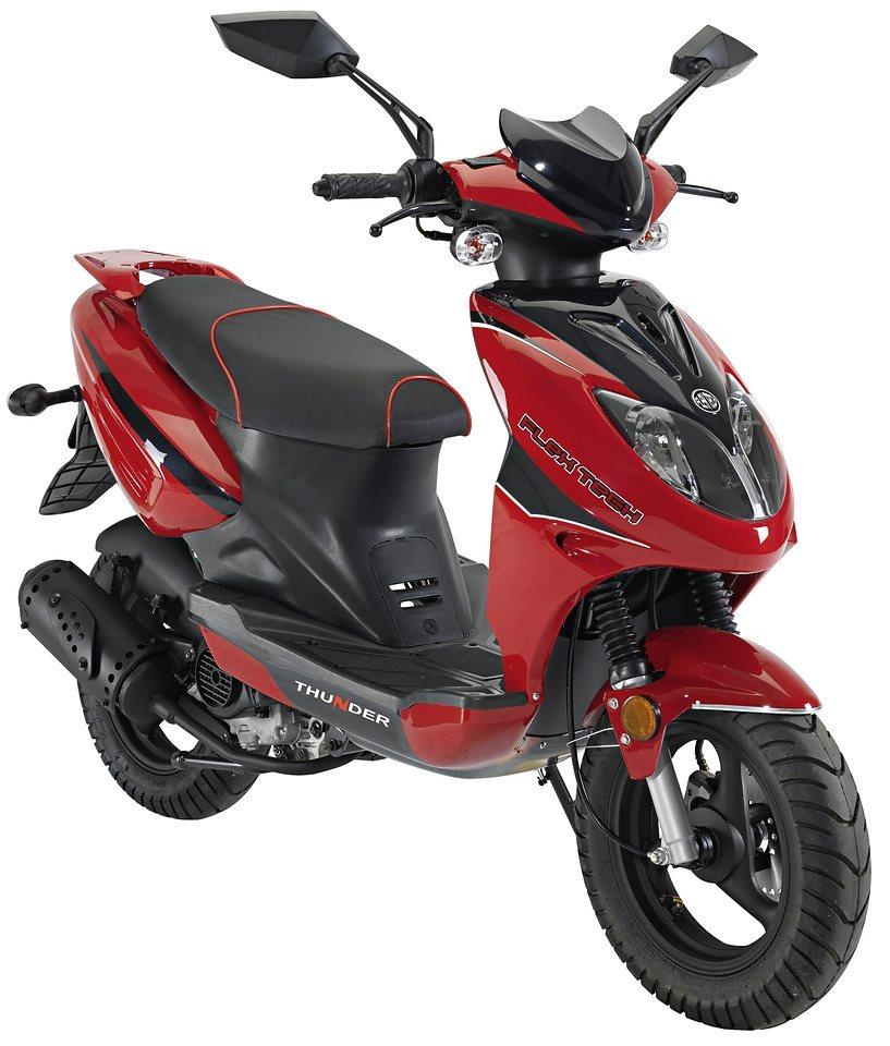 Motorroller »Thunder«, 50 ccm, 45 km/h in rot