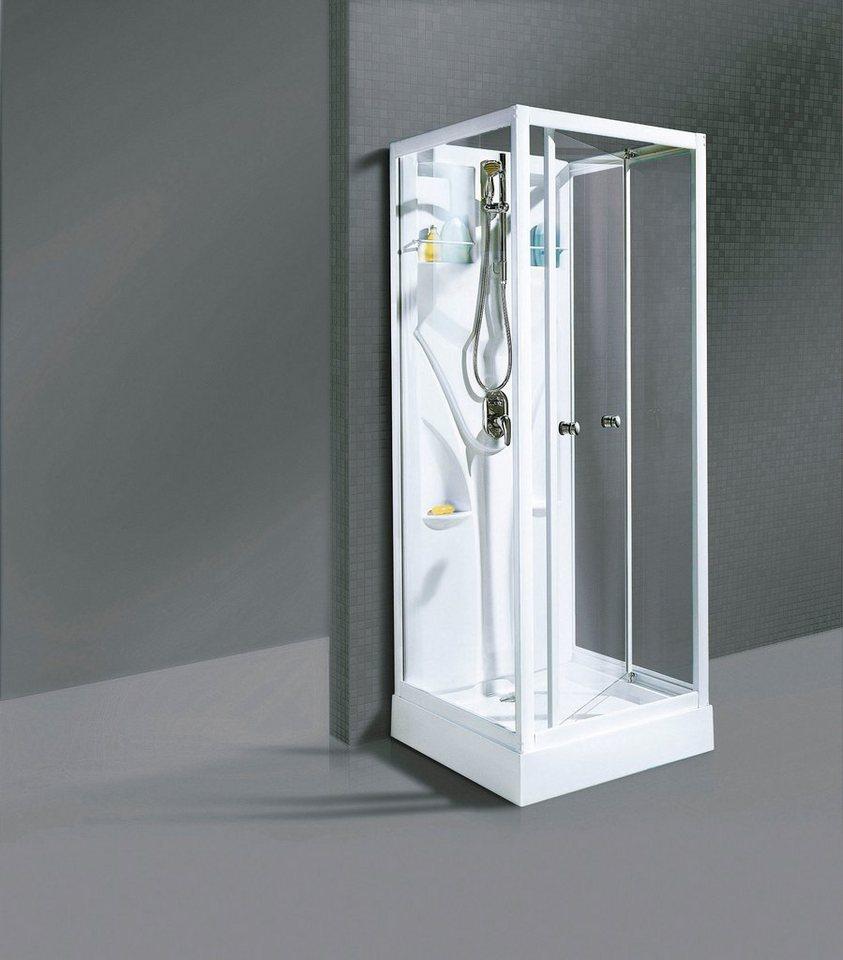 Fertigdusche »Bill«, 90cm x 90cm in weiß