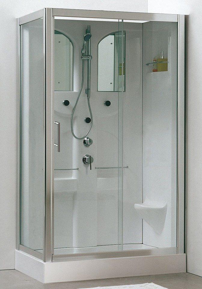 Fertigdusche »Komplettduschkabine «, 120cm x 80cm in weiß