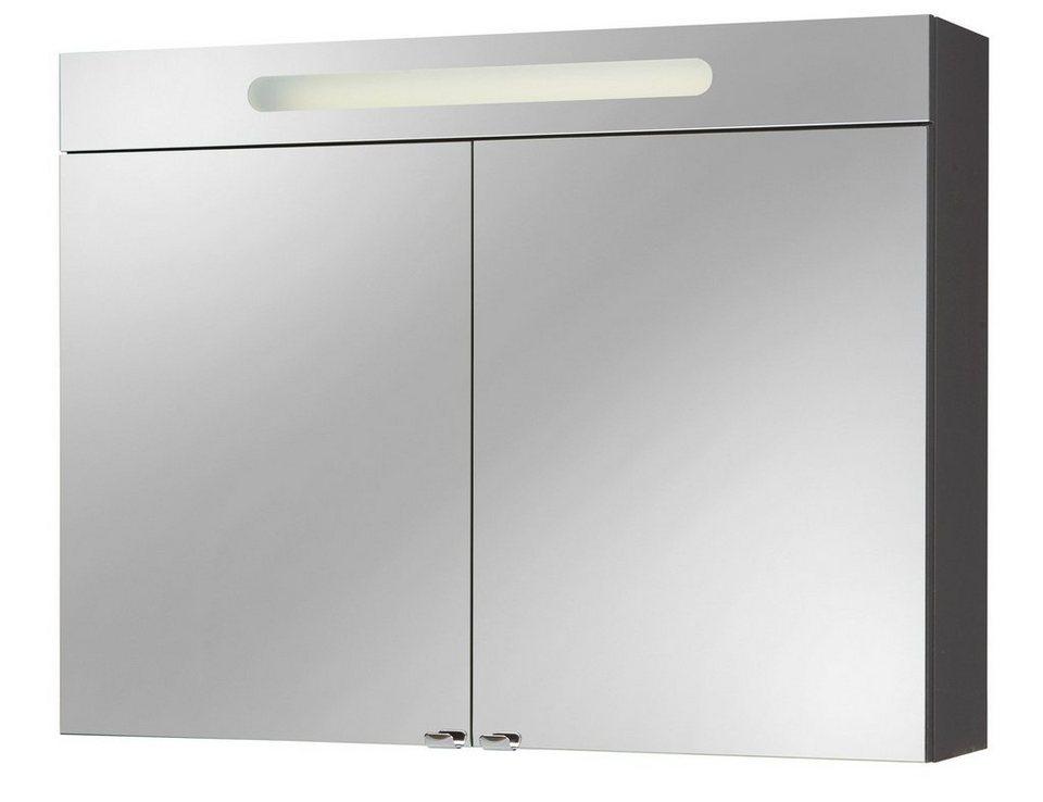 Spiegelschrank »Lucca« Breite 90 cm, mit Beleuchtung in anthrazit