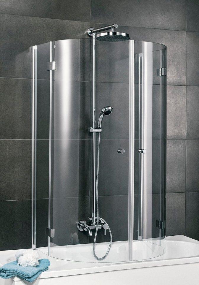 Badewannenaufsatz »(4-tlg.)« in alufarben