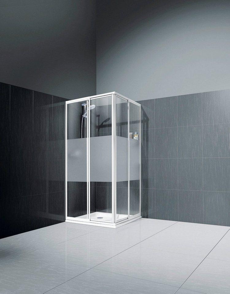 Eckdusche »Sunny«, 80 cm x 80 cm in weiß