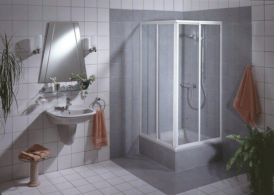 Eckdusche »Sunny«, 90cm x 90cm in weiß