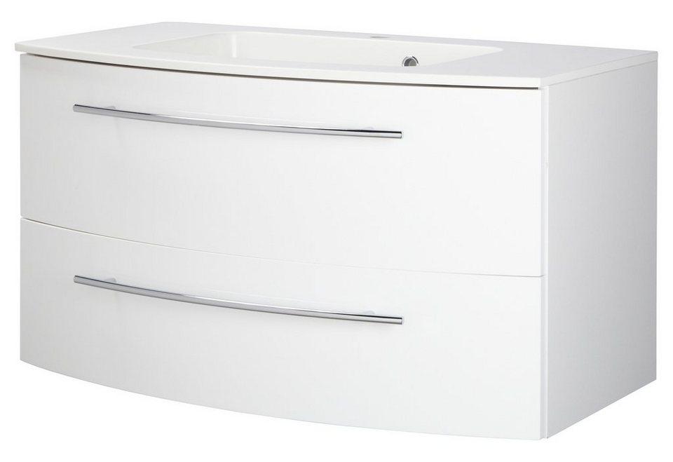 Waschtisch »Topline«, Breite 90 cm, (2-tlg.) in weiß