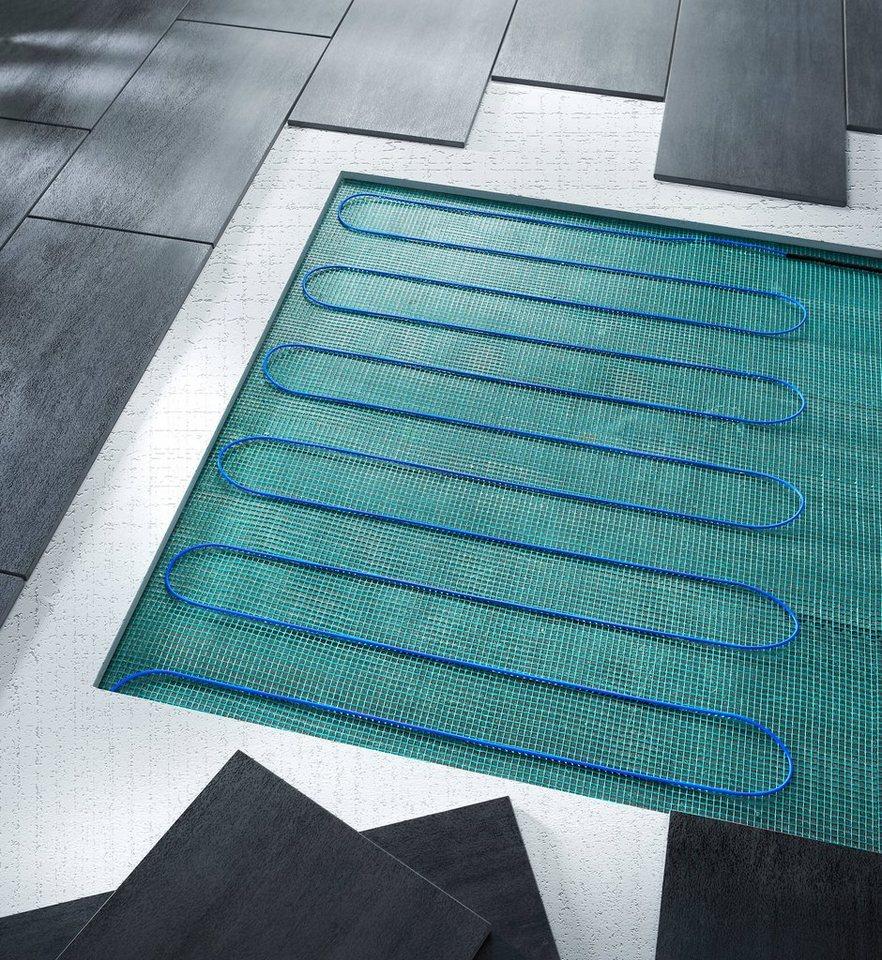 Fußbodentemperierungungssystem in grün