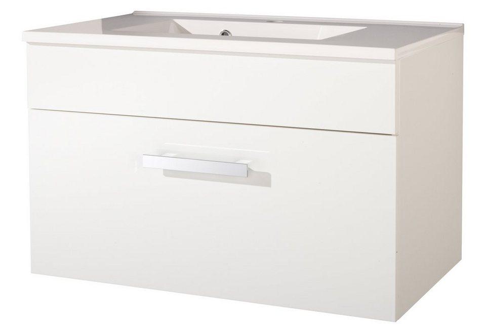 Waschtisch »Ibiza«, Breite 80 cm, (2-tlg.) in weiß