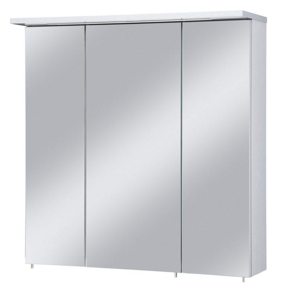 Spiegelschrank »Profil« Breite 70 cm, mit LED-Beleuchtung in silberfarben