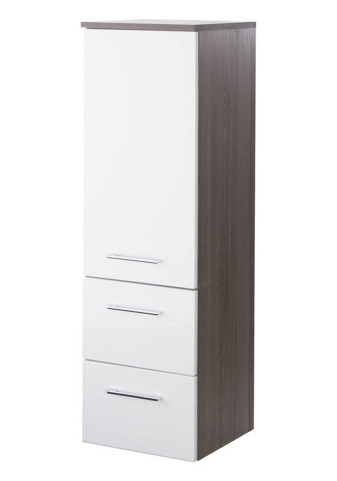 Held Möbel Midischrank »Marinello«, Breite 35 cm in weiß/eichefarben dunkel