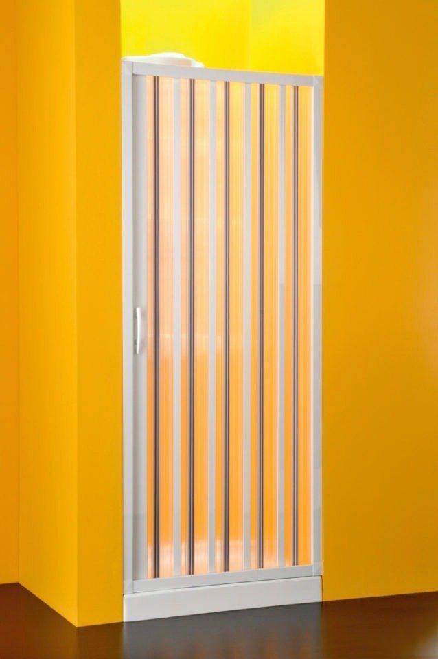 Nischentür »mit Falttürsystem«, Duschtür mit Verstellbereich von 138-142 cm in weiß