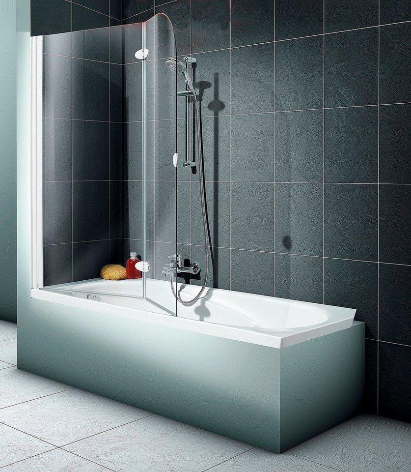 Badewannenaufsatz »2-teilig« in silberfarben