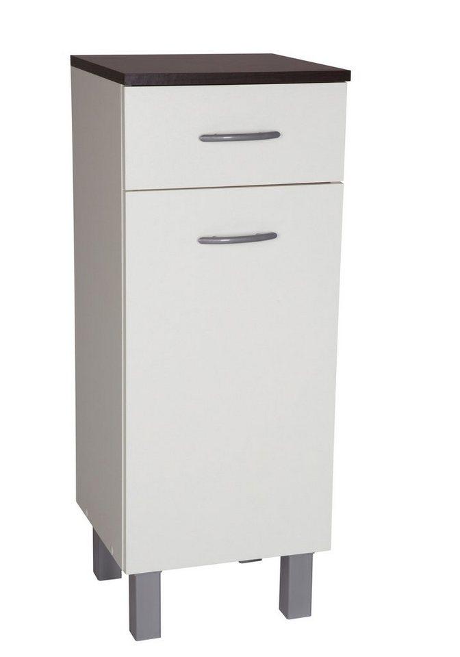 Kesper Unterschrank »Venedig«, Breite 33 cm in weiß/wengefarben