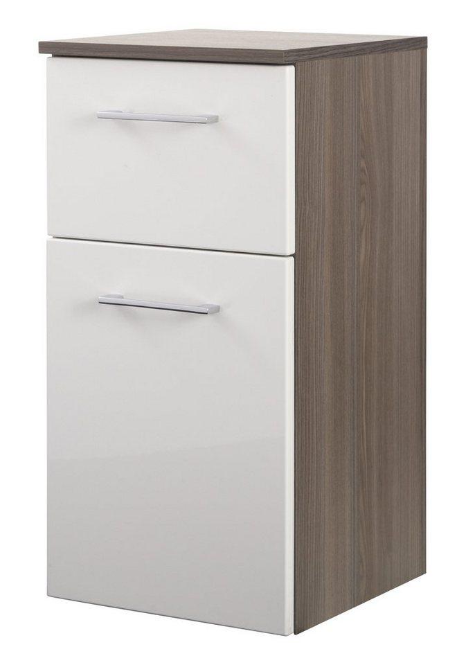 Unterschrank »Marinello« 35 cm in weiß/eichefarben dunkel