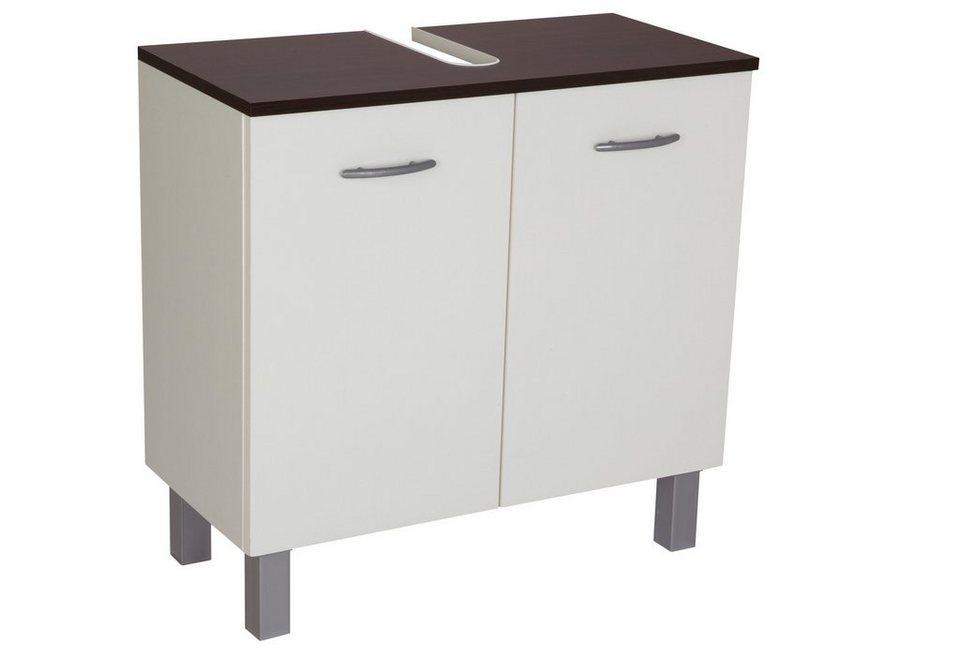 Waschbeckenunterschrank »Venedig« 65 cm in weiß/wengefarben