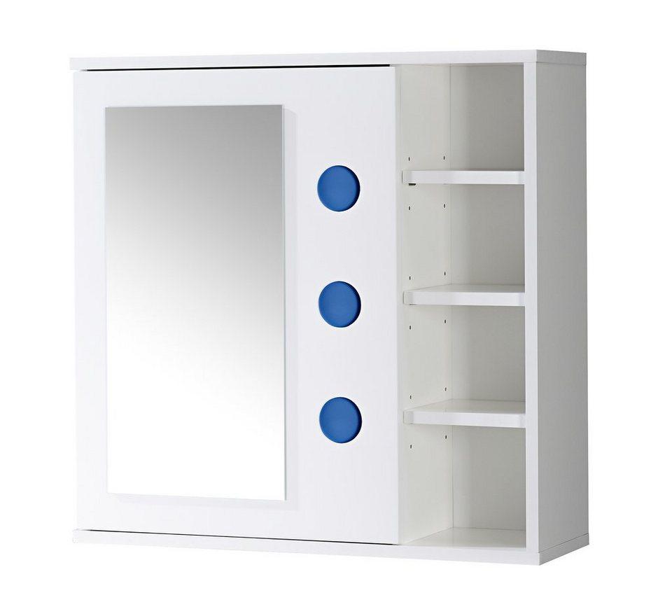 Spiegelschrank »Bermuda« Breite 66 cm in weiß/blau