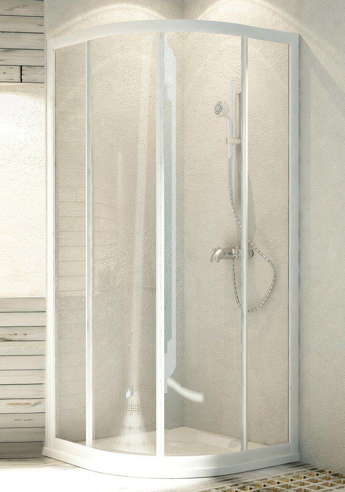 Runddusche »Aqua«, 80cm x 80cm in weiß