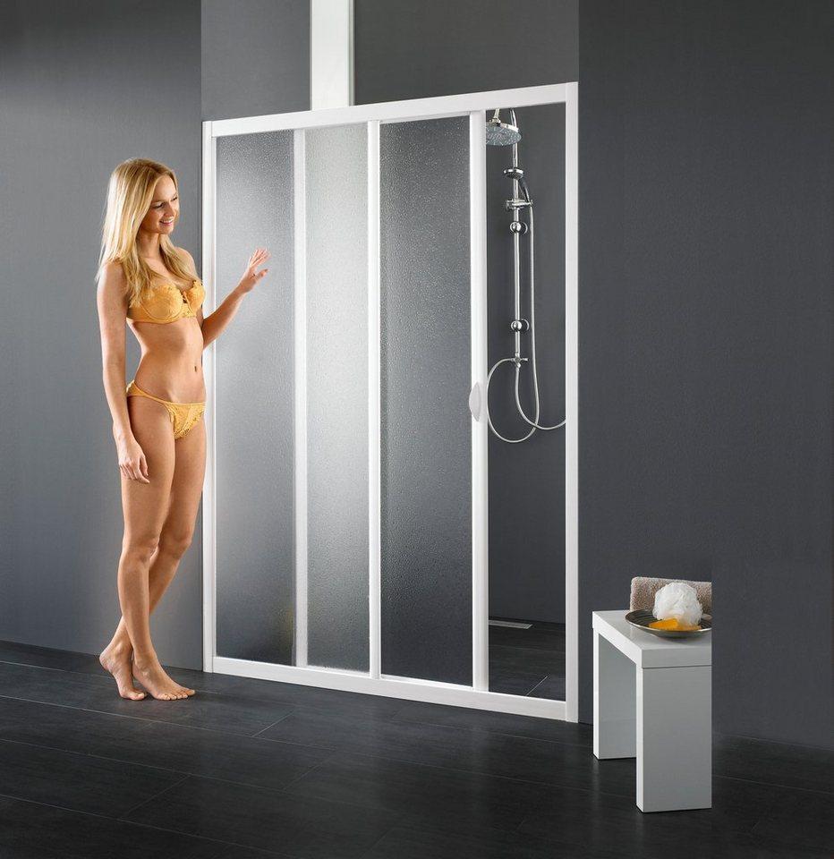 Nischentür »Maestro Due«, Duschtür mit Verstellbereich von 128-132 cm in weiß