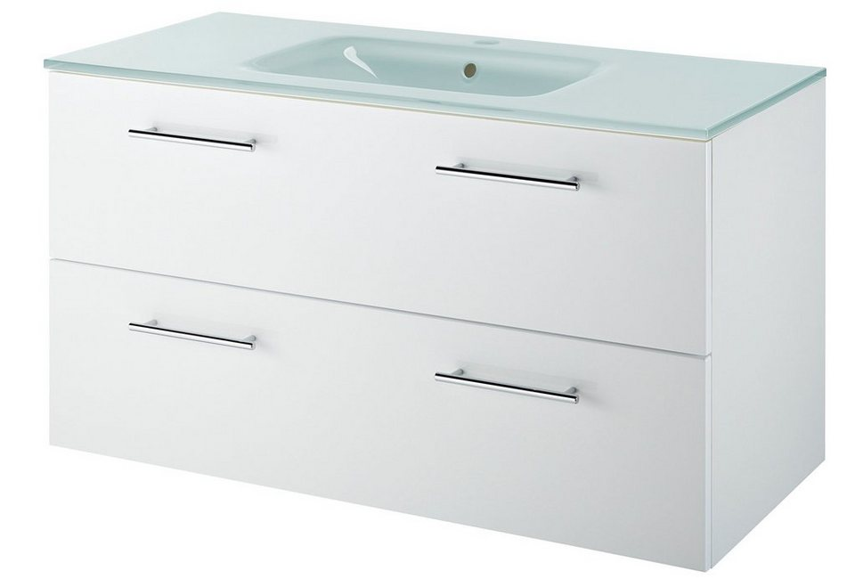 Kesper Waschtisch Malmö Breite 100 cm 2 tlg Badmöbel Made in Germany online kaufen